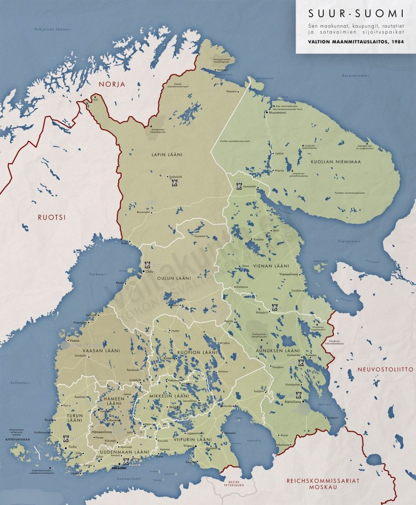 Gränsen mellan Finland och Ryssland